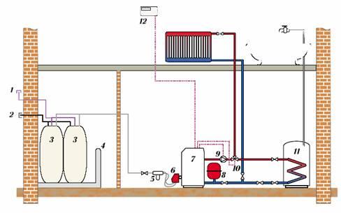 электрическая схема подключения бойлера
